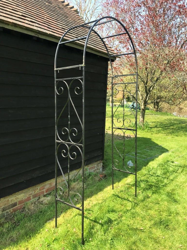 Charlton Ironworks - Black Ornate Rose Arch (7)