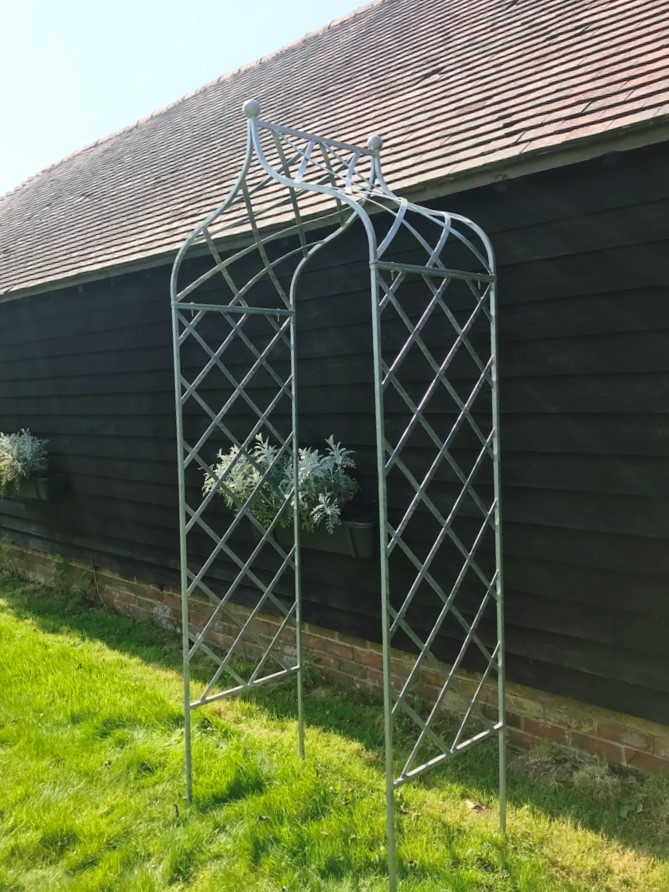 Charlton Ironworks - Galvinised Steel Trellis Rose Arch (7)